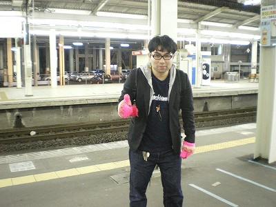 仙台駅ホームで